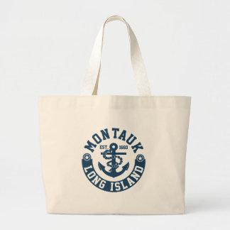 Montauk Long Island Large Tote Bag