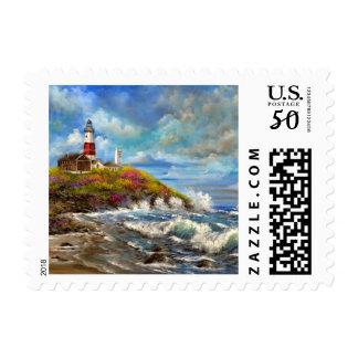 Montauk Point Light House Stamp