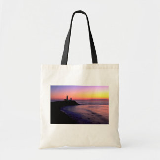 Montauk Point lighthouse Budget Tote Bag