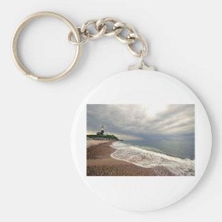 Montauk Point Lighthouse Basic Round Button Keychain