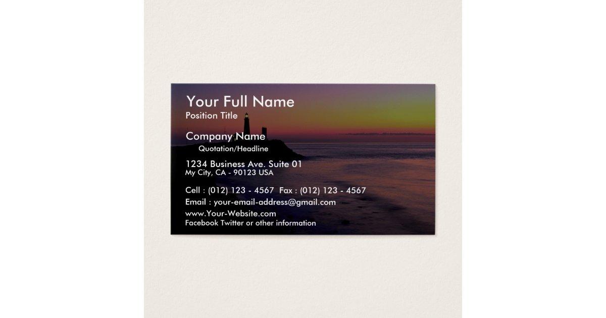 Montauk Point lighthouse Business Card | Zazzle.com