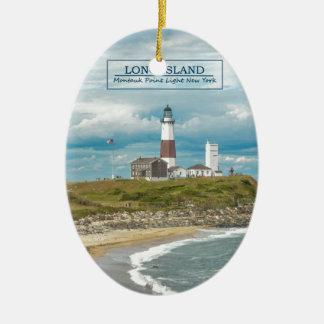 Montauk Point Lighthouse Ceramic Ornament