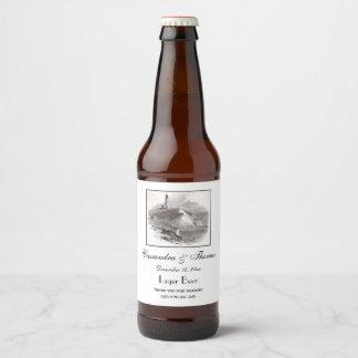 Montauk Point Lighthouse Hamptons Long Island NY Beer Bottle Label