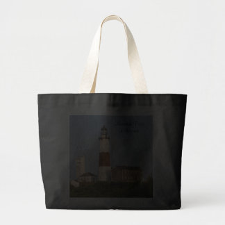 Montauk Point Lighthouse Jumbo Canvas Tote Bag