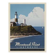 Montauk Point Lighthouse,  Longisland Ny Postcard at Zazzle
