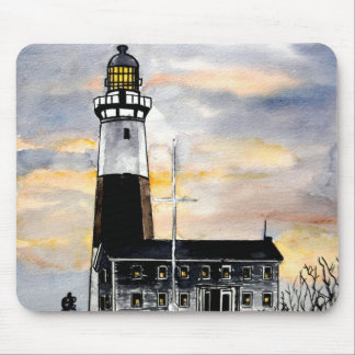 montauk point lighthouse new york mouse pad
