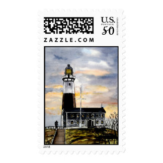 montauk point lighthouse new york postage stamps