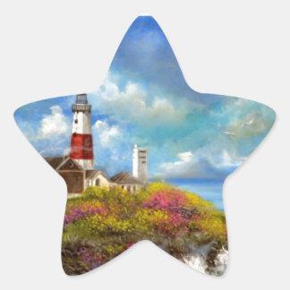 Montauk Point Lighthouse Star Sticker