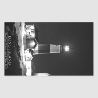 Montauk Point Lighthouse Rectangular Sticker