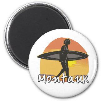 Montauk Surfer 2 Inch Round Magnet