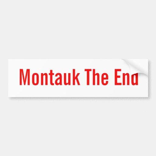 Montauk The End (classic bumpersticker) Bumper Sticker