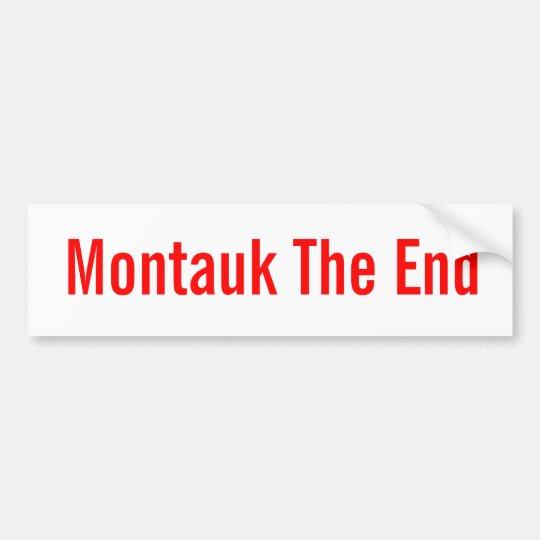 Montauk the end classic bumpersticker bumper sticker