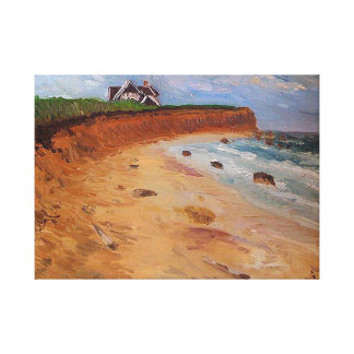 Montauk-The End, Original oil Painting by me Canvas Print