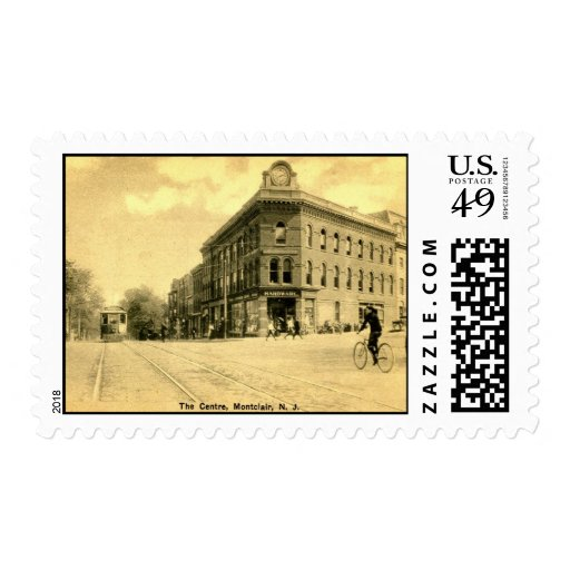 Montclair, grúa Building, de NJ vintage 1915 Sellos