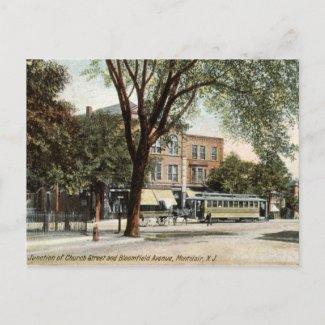 Montclair NJ 1908 Vintage postcard
