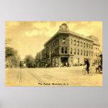 Montclair, NJ Crane Building, 1915 Vintage Poster