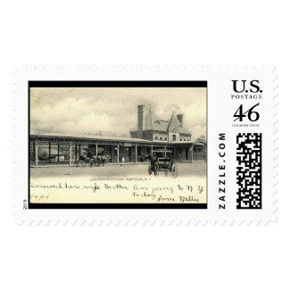Montclair Train Station, New Jersey 1905 Vintage stamp