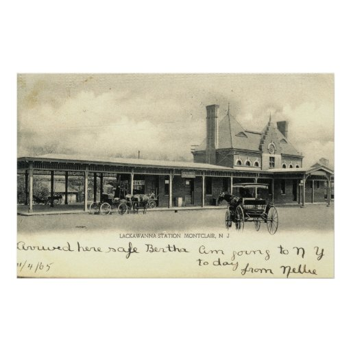 Montclair Train Station, New Jersey 1905 Vintage Poster