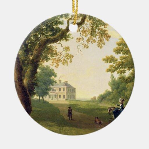 Monte a Kennedy, condado Wicklow, Irlanda, 1785 Adorno Navideño Redondo De Cerámica