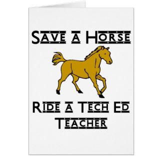 monte a un profesor del ed de la tecnología tarjeta pequeña