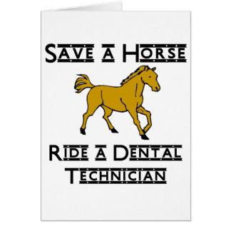 monte a un técnico dental tarjeta pequeña