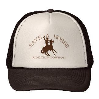 ¡Monte a un vaquero! Gorras De Camionero