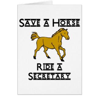 monte a una secretaria tarjeta