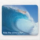 ¡Monte al bebé de la onda! Tapetes De Raton