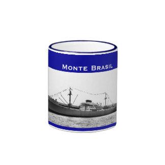 Monte Brasil Azores Ship Ringer Coffee Mug