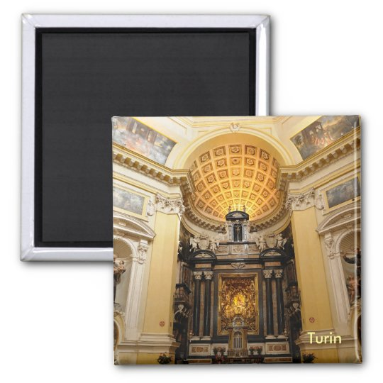 Monte Cappuccini church on mountain in Turin Magnet
