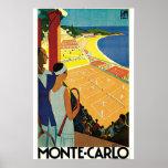 Monte-Carlo Art Deco Tennis Poster