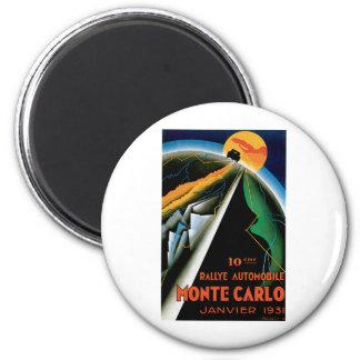 Monte Carlo Auto Rally ~ Vintage Automobile Ad 2 Inch Round Magnet