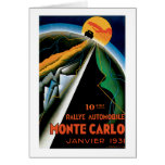 Monte Carlo Auto Rally ~ Vintage Automobile Ad Stationery Note Card