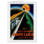 Monte Carlo Auto Rally ~ Vintage Automobile Ad Card