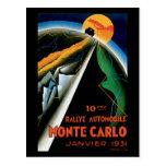 Monte Carlo Auto Rally ~ Vintage Automobile Ad Postcard