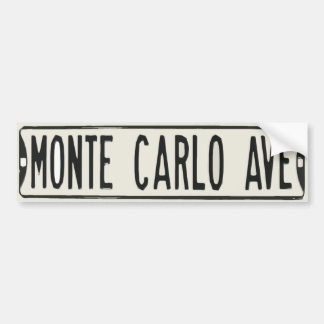 Monte Carlo Avenue Bumper Sticker