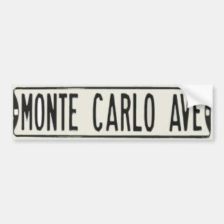Monte Carlo Avenue Car Bumper Sticker
