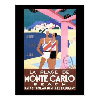 Monte Carlo Beach Postcard