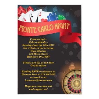 MONTE CARLO CASINO NIGHT Fund Raising Invitation