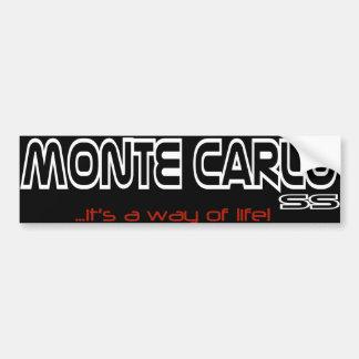 """¡Monte Carlo """"es una manera pegatina para el Pegatina Para Auto"""