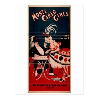 Monte Carlo Girls Postcard