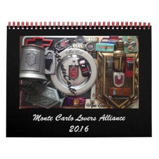 Monte Carlo Lovers Alliance FB Group 2016 Calendar