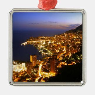 Monte Carlo, Mónaco Adorno Navideño Cuadrado De Metal