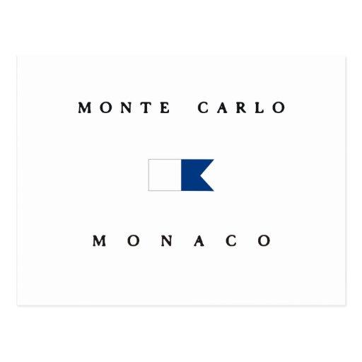 Monte Carlo Monaco Alpha Dive Flag Post Cards