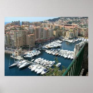 Monte Carlo Monaco Marina and Condos Poster
