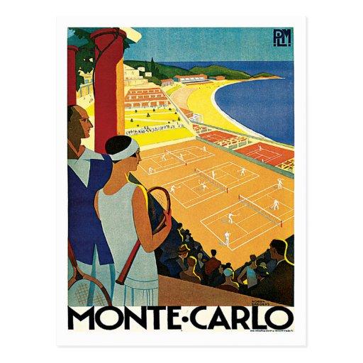 Monte Carlo Monaco Vintage Travel Post Cards
