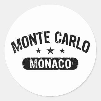 Monte Carlo Round Sticker