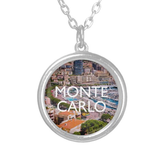 Monte Carlo Silver Plated Necklace