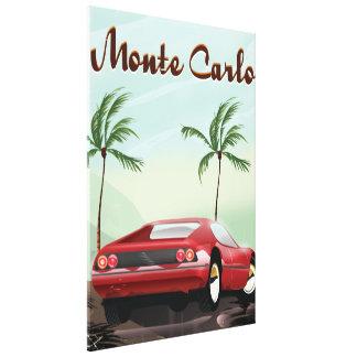 Monte Carlo sports car travel poster Canvas Print