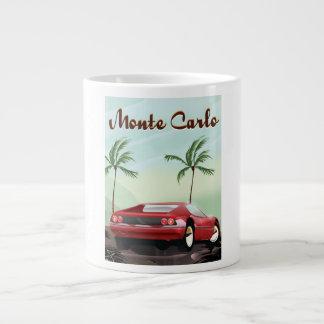 Monte Carlo sports car travel poster Large Coffee Mug